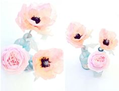 ..Twigg studios: peach tissue paper poppies tutorial