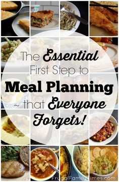 The essential first step to meal planning for a family - with links to dozens of kid friendly, healthy, easy to make recipes.