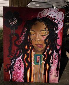 Painting Inspiration, Art Inspo, Drawings Of Black Girls, Art Cart, Art Hoe, Dope Art, Character Drawing, Black Art, Creative Art