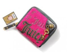 cheap - Cheap Juicy Couture Gold Key Coin Purses - Pink/Brown - Wholesale Discount Price
