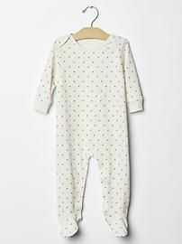 Organic star footed one-piece