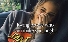 Loving people who can make you laugh. ♡ #JustGirlyThings