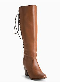 cceb9b33ae26 Lace Up Back Heel Boots (Wide Width   Wide Calf)