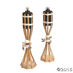 Torch ideas - make ones that resemble these using flickering lights instead of real flame?