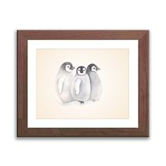 Watercolor Nursery Art  Penguin Art Print  Watercolor