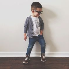 cool cool Toddler boy fashion via Sarahknuth on Instagram.......