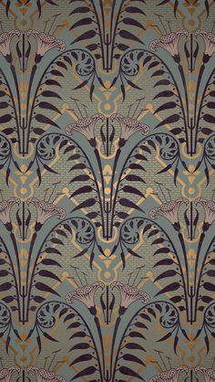 Vintage Wallpaper Bedroom Art Nouveau 58 Ideas For 2019 Motifs Art Nouveau, Design Art Nouveau, Motif Art Deco, Art Nouveau Pattern, Art Design, Pattern Art, Textile Design, Art Deco Print, Bedroom Art Nouveau