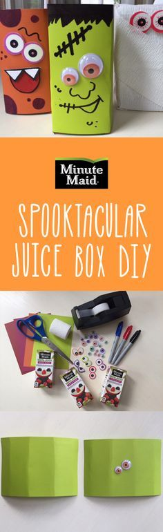 Sip and slurp with some scary monsters! Show off your artistic skills by morphing your Minute Maid juice boxes into spooky pals. This kid-friendly craft is sure to bring giggles and make memories.