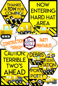 Tons of Construction Party Printables ahead! All from Mandy's Party Pritnables!