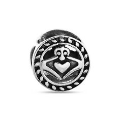 Bling Jewelry Claddagh Celtic Bead Charm 925 Sterling Silver