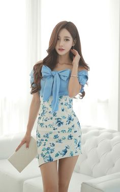 Great Blue Clothes from 50 of the Chic Blue Clothes collection is the most trending fashion outfit t Modest Fashion, Girl Fashion, Fashion Outfits, Womens Fashion, Fashion Trends, Trending Fashion, Fashion Today, Looks Chic, Cute Asian Girls