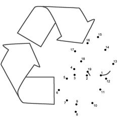 This Recycle connect the dots page features a dot to dot puzzle for Earth Day. This activity worksheet helps kids practice connecting the dots, counting by (Connect . Kindergarten Math Activities, Science Classroom, Counting In 2s, Dot To Dot Puzzles, The Dot Book, Earth Book, Dotted Page, Dot Day, Earth Day Crafts