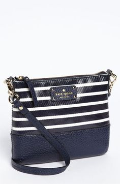 It was love at first sight <3 <3 <3   Kate Spade New York Crossbody Bag - Grove Court Stripe Tenley  #Nordstrom