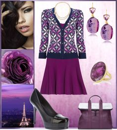 """""""Magenta & Navy"""" by louise-stuart on Polyvore"""