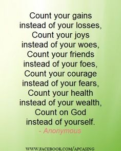 Count on God...