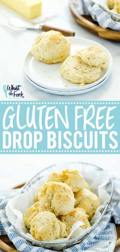 Easy Gluten Free Drop Biscuits are great with dinner or turned into shortcake! This simple gluten free recipe was adapted from my mom's drop biscuit recipe and it's so good! Buttery, crispy bottoms, l Gluten Free Drop Biscuits Recipe, Gluten Free Cookies, Gluten Free Baking, Gluten Free Shortcake Recipe, Buttermilk Drop Biscuits, Easy Drop Biscuits, Homemade Biscuits, Diabetic Desserts, Gluten Free Desserts