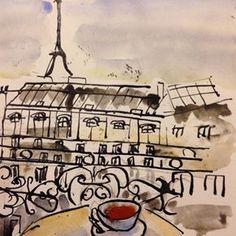 #Paris #sketch #urbansketchers #urbansketch #drawings #drawingoftheday #drawing #drawing #penandink #pen #dippen #instadrawimg #aquarelle #hotel #hotelinparis #petitdejeuner #cafeaulait #tasse #adventure #dailysketch #dailyart #balcon #balcony #coffeecup #cafe #coffee #philosophe #moleskine