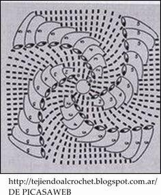 How to Crochet a Puff Flower Crochet Diy, Crochet Home, Thread Crochet, Crochet Granny, Irish Crochet, Crochet Doilies, Crochet Stitches, Crochet Bedspread Pattern, Crochet Motif Patterns