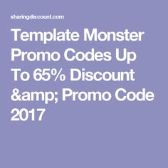 Template Monster Promo Codes Up To 65% Discount & Promo Code 2017