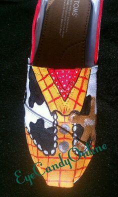 Disney Inspired Shoes by EyeCandyOnline on Etsy, $90.00