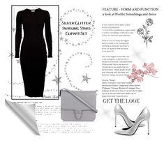"""Black dress"" by draganica-2 ❤ liked on Polyvore featuring Alaïa, Yves Saint Laurent, black and grey"