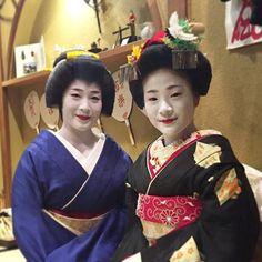 Geiko & Maiko — February 2017: Maiko Momika of Pontocho with her...