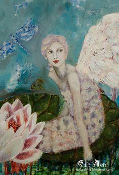 Galia Alena, Lotus Fairy painting