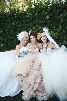 Ruffly Ball gowns girl pic, so want to do this :) Wedding Suits, Wedding Gowns, Wedding Flowers, Wedding Rings, Masquerade Wedding, Masquerade Theme, Modern Princess, Cinderella Wedding, Beautiful Dresses