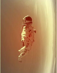 space-pics:  Cool? I think so http://space-pics.tumblr.com/  Astronaut