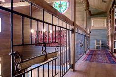 Detail of railing in rustic rural retreat in central Texas. Built by Truehome Design-Build. Designed by Sentient Architecture, LLC. Both managed by Christopher K. Travis.
