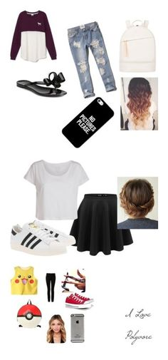 """Naak"" by theoricoleman on Polyvore featuring Abercrombie & Fitch, Valentino, Want Les Essentiels de la Vie, Victoria's Secret, Casetify, adidas Originals, Pieces, T By Alexander Wang and Converse"