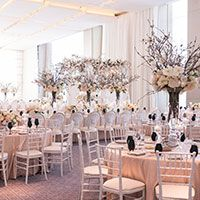 There's no denying that this blush-hued was like a breath of fresh spring air with all the magnolia branch and contrasting black stemware! Pink Wedding Decorations, Pink Wedding Theme, Luxe Wedding, Spring Wedding, Wedding Centerpieces, Table Decorations, Wedding Reception, Wedding Flowers, Blush Pink Weddings