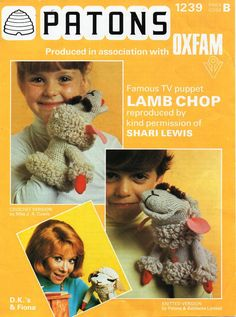 Lamb Chop Hand Puppet Toys Knitting Crochet pattern PDF Download Knitted Lamb…
