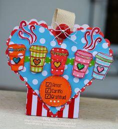AMOR CARIÑO GRATITUD.... HEART BOX