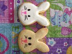 Bunny Head Cookies by Carmen