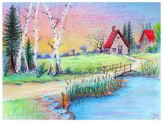 Pastel, Laura Mateescu, www. Art Pictures, Pastel, Painting, Cake, Painting Art, Paintings, Paint, Draw, Beauty Shots