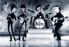 David O'Keefe - A Tribute to the '65 Beatles - 28'x19' Framed. Buy it @ ReadyGolf.com