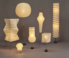 Curiosity and investigations into creativity and cultural insight. Noguchi Lamp, Isamu Noguchi, Wall Sconce Lighting, Wall Sconces, Paper Floor Lamp, Japanese Paper Lanterns, Classic Lighting, Paper Light, Mid Century Lighting