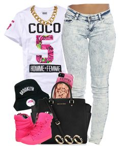 """""""Coco #5"""" by oh-aurora ❤ liked on Polyvore featuring Wet Seal, Michael Kors, Betsey Johnson and ASOS"""