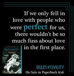 Perfect people #RulesofCivility