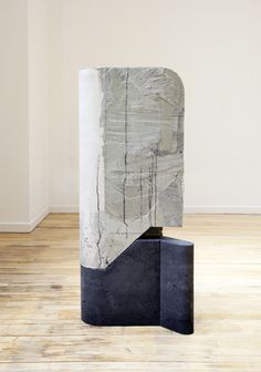 "Jen Aitken Balimidor , 2014, concrete, foam, and wood, 45"" x 21"" x 12"""