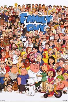 Family Guy Cartoon Cast Poster 24x36