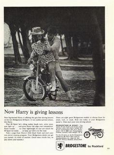 1966 BRIDGESTONE Sport 60 moto annonce publicité par StillsofTime