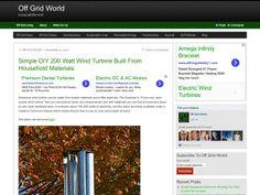 Off Grid World wind turbinw