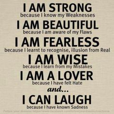 Strong, beautiful, fearless, wise, a lover that can laugh.  Sounds great.
