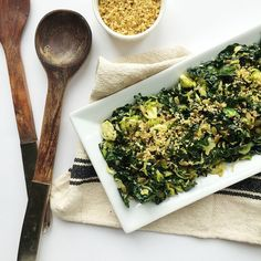 "Shredded Kale and Brussels Sprout Slaw with Pine Nut ""Parm"" — Whole Living Lauren"