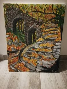 Fall in the nature (Acrylic paints)