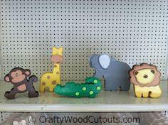 Safari Animal Unfinished Wood Craft Cutouts
