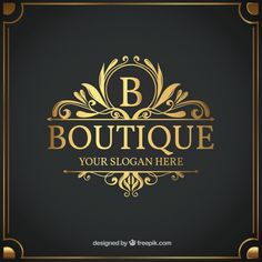 Vintage and luxury logo template Free Vector Floral Frames, Free Logo Templates, Sandwich Board, Illustration Vector, Luxury Logo, Motivational Messages, Shop Icon, Logo Vintage, Vintage Style