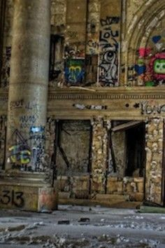 An icon of a faded city. Michigan Central Station.